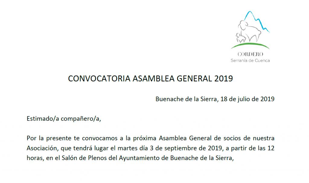 Asamblea General 2019 Cordero Serranía de Cuenca